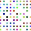 1秒ごとに数多の正方形の色が変わったり明滅するだけのプログラム